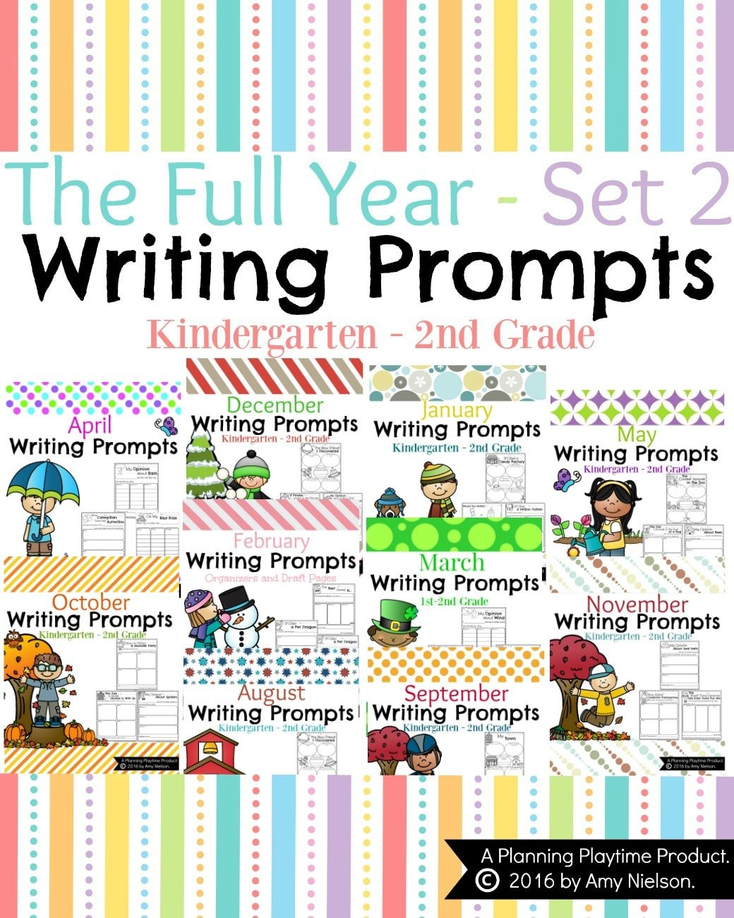First Grade Writing Prompts for the Full Year.