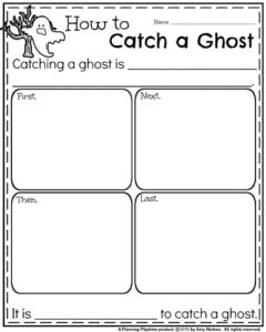 Informative Writing Prompts for October - How to Catch a Ghost.