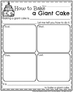 September Writing Prompts - Informative: How to Bake a Giant Cake.