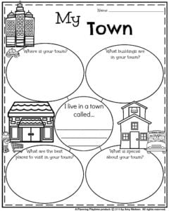 Informative Writing Prompts for September - My Town.