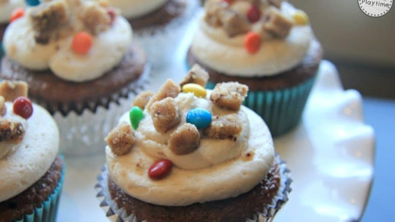 Monster Cookie Dough Cupcakes Recipe - so Yummy!