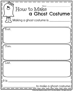 October Informative Writing Prompt - How to Make a Ghost Costume.