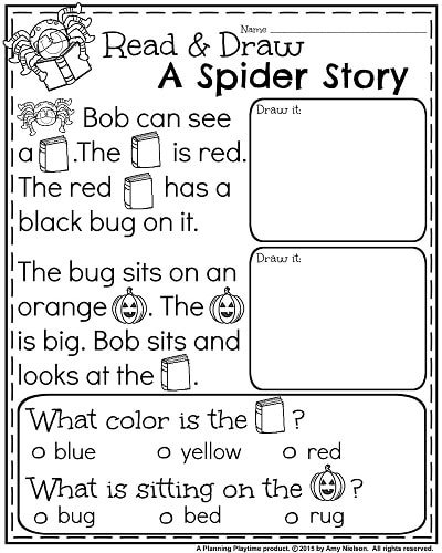 October Kindergarten Worksheets - Planning Playtime
