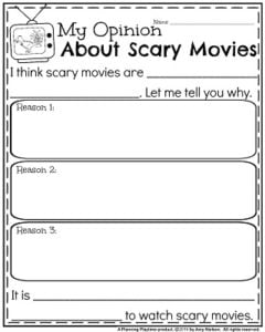 writing prompts planning playtime opinion writing prompts for my opinion about scary movies