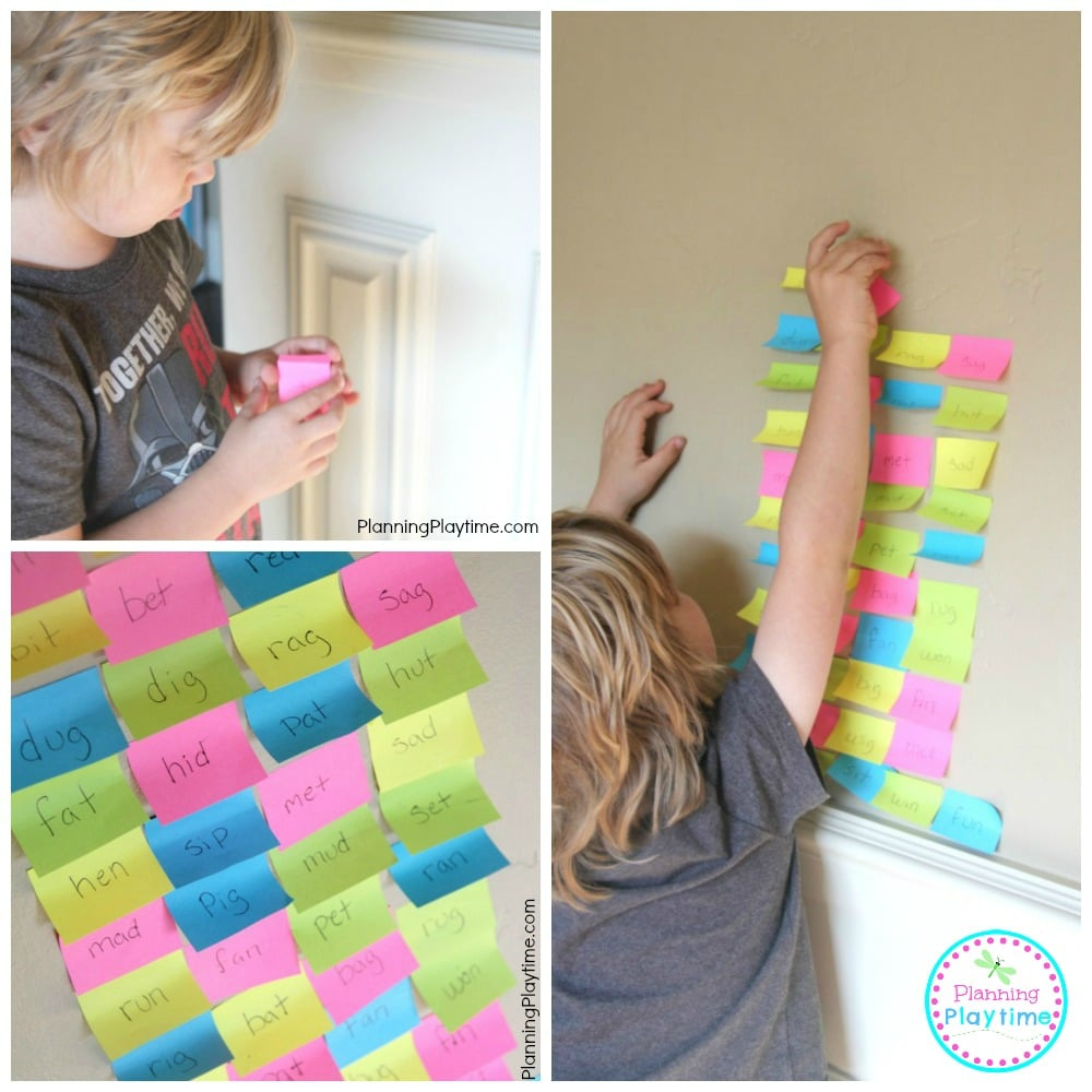 Read-to-Build Word Tower Reading Activity for Kids.