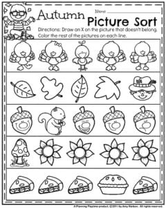 November Preschool Worksheets - Planning Playtime