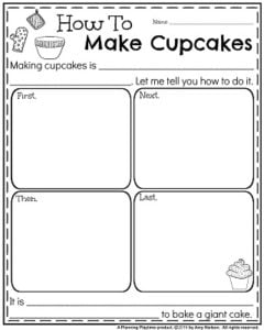 Informative Writing Prompts for November - How to make cupcakes.