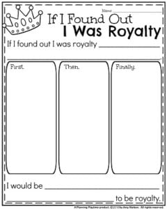 Narrative Writing Prompts for November - If I Found out I was Royalty.