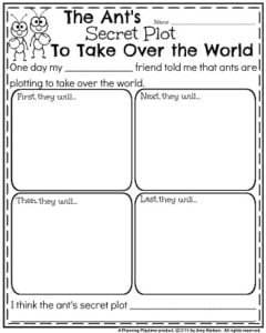 Narrative Writing Prompts for October - The Ants Secret Plot to Take Over the World.