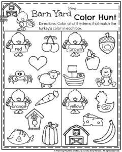 November Preschool Worksheets - Planning Playtime