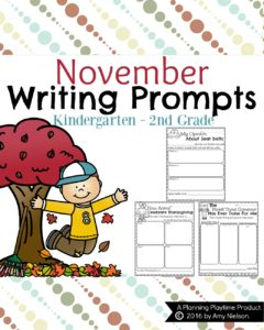 November Writing Prompts - Opinion, Narrative, and Informative.