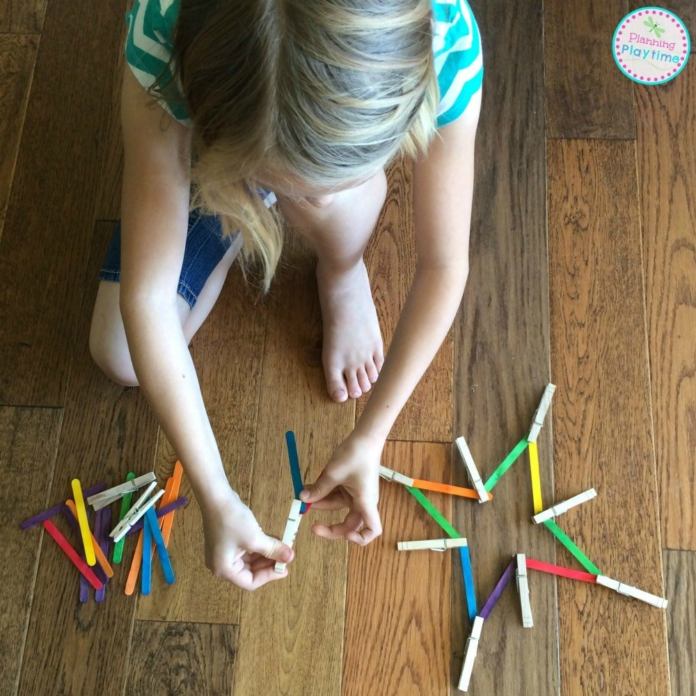 STEAM Popsicle Stick Geometry Activity. So fun!