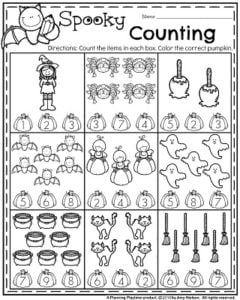 October Preschool Worksheets - Planning Playtime