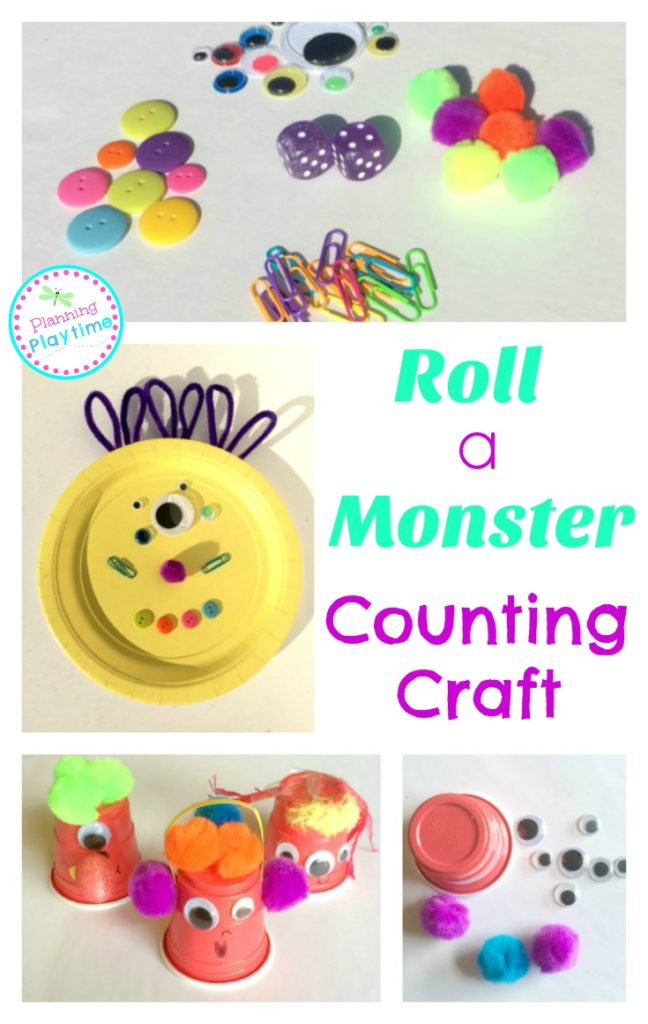 Roll a Monster Counting Activity. Roll and count to see how many of each item goes in your monster.