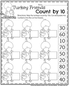 math worksheet : counting by tens cut and paste worksheets  skip counting mazes 2s  : Counting By 10 Worksheets For Kindergarten