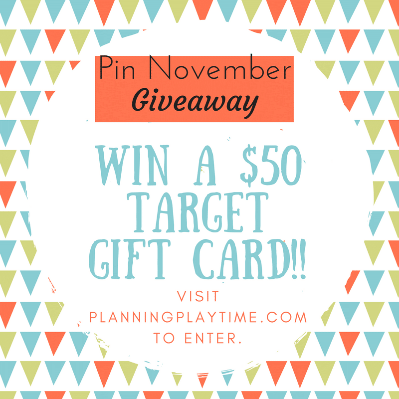 Pin November Gift Card Giveaway