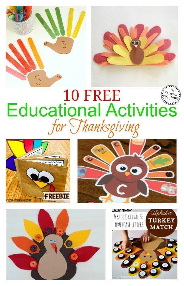 10 FREE Educational Activities for Thanksgiving - So fun!