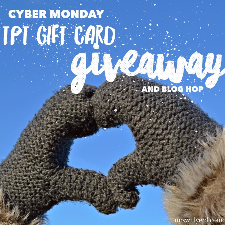 Cyber Monday Sale and TPT Gift Card Giveaway