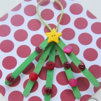 Popsicle Stick Christmas Tree Ornaments