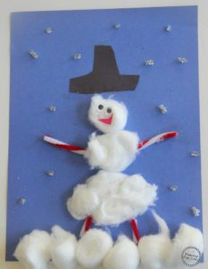 Build a Snowman Craft for Kids.