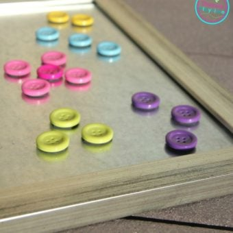 DIY Button Magnets Craft and Educational Toy for Kids