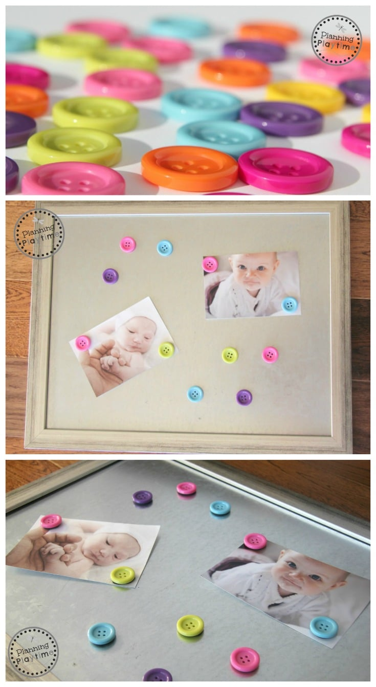 DIY Button Magnets Craft - Super fun educational toy for kids too!