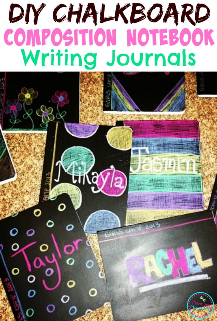 DIY Chalkboard Gratitude Journals for November.