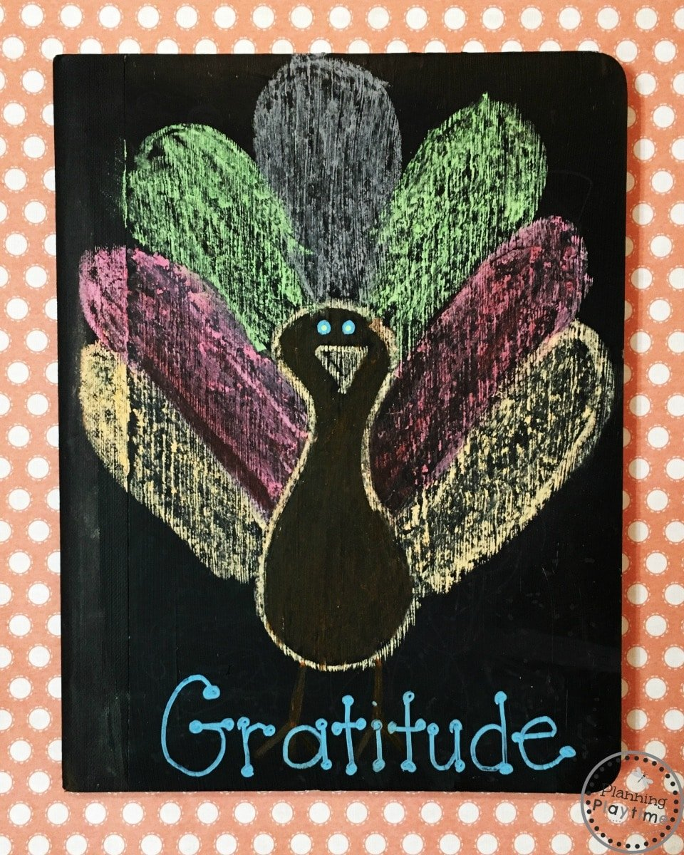 DIY Chalkboard Gratitude Journals for November