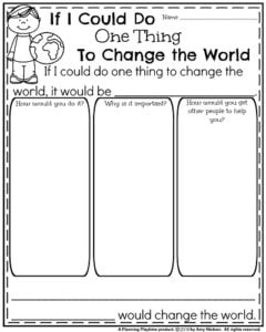 December Writing Prompts - If I Could do One Thing to Change the World.
