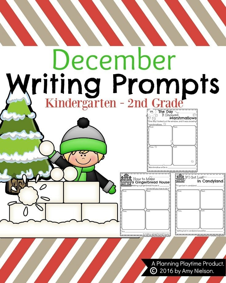 December Writing Prompts - Informative, Narrative and Opinion.