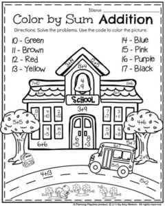 Back To School Coloring Pages For First Grade Glamorous Back To School First Grade Worksheets  Planning Playtime
