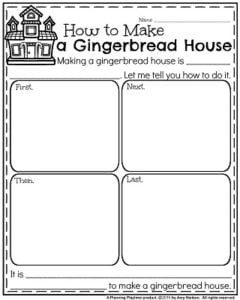 Informative Writing Prompts for December - How to Build a Gingerbread House.