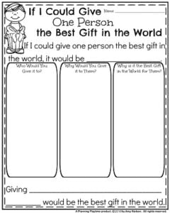 Informative Writing Prompts for December - If I Could Give one Person the Best Gift in the World.