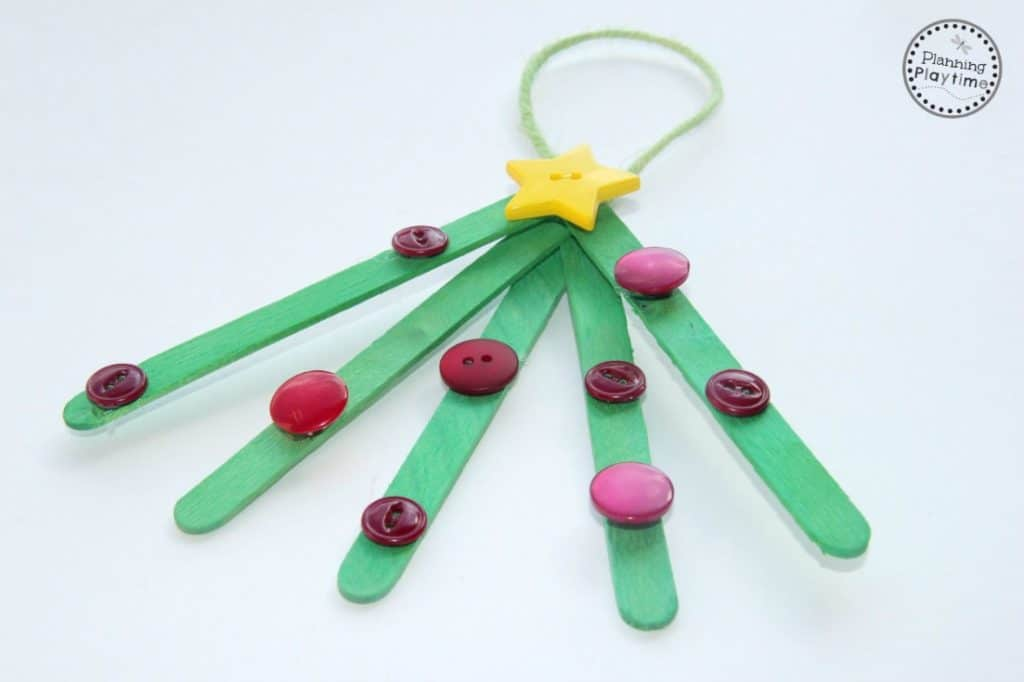 Popsicle Stick Christmas Tree Ornaments.Popsicle Stick Christmas Tree Ornaments Planning Playtime
