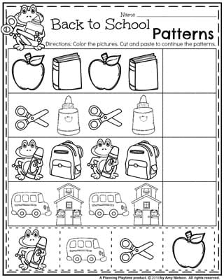 back to school worksheets preschool planning playtime. Black Bedroom Furniture Sets. Home Design Ideas