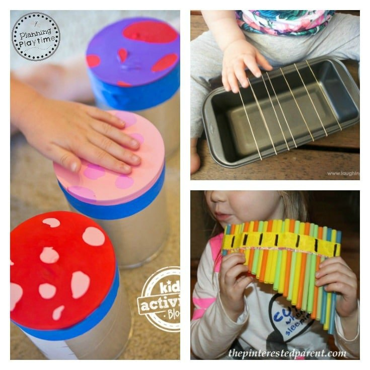 10 DIY Musical Instruments for kids. So fun!!