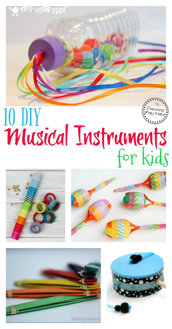 10 DIY Musical Instruments for Kids