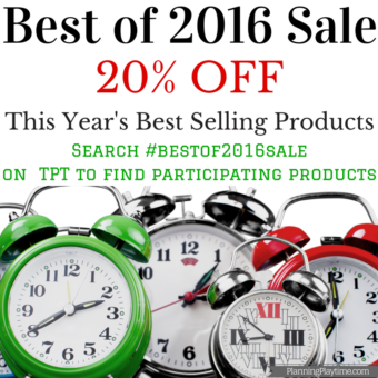 Teachers Pay Teachers Best Products of 2016 Sale