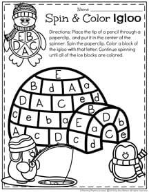 January Preschool Worksheets - Planning Playtime