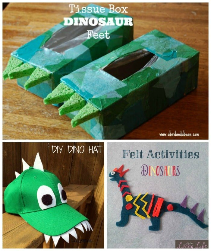 10 Awesome Dinosaur Crafts for kids - So fun for dinosaur pretend play.