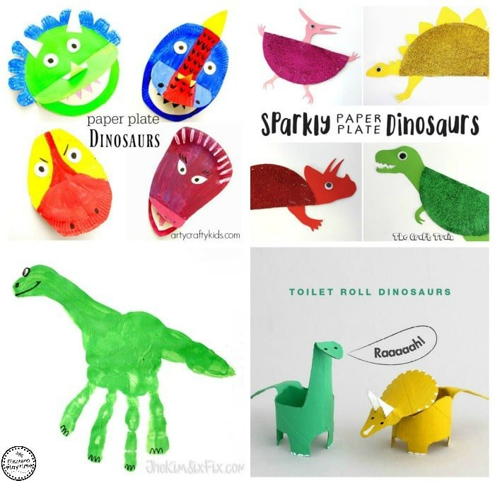 10 Awesome Dinosaur Crafts for kids - great for dinosaur week at preschool.