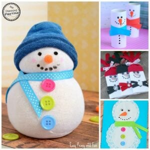 10 Cute Snowman Crafts for Kids.