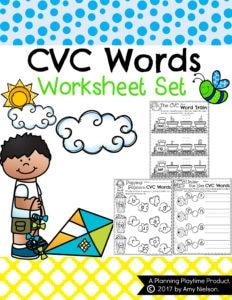 CVC Words Worksheets for kindergarten. #cvcwords #reading #kindergarten #readinggames #literacygames