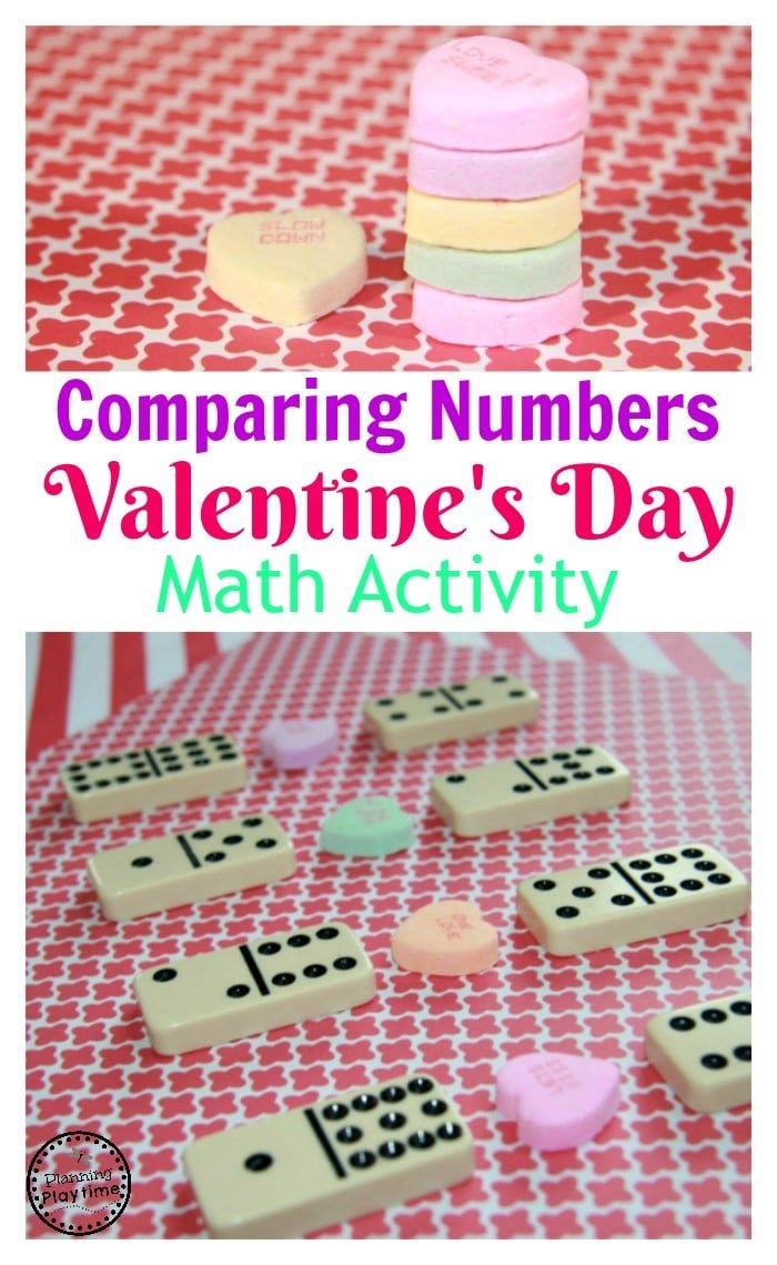 Comparing Numbers Valentine's Day Math Activity