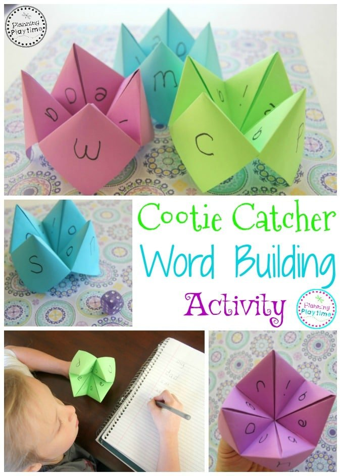 Cootie Catcher Word Building Activity