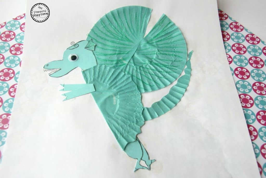 Cupcake Liner Dragon Craft for Kids
