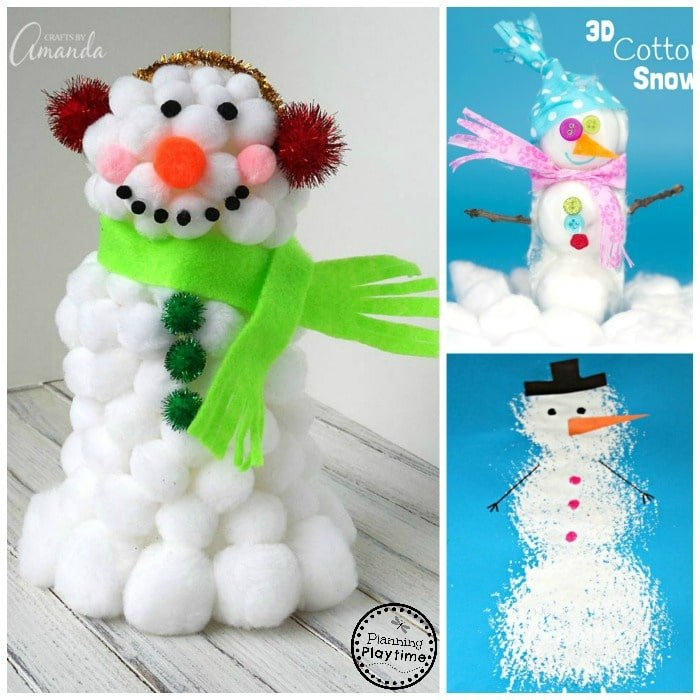Cute Snowman Crafts for kids - great for school or home.