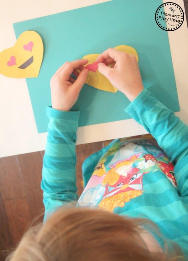 DIY Emoji Valentines for kids to make.