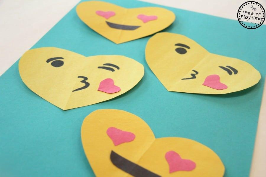 DIY Emoji Valentines for kids.
