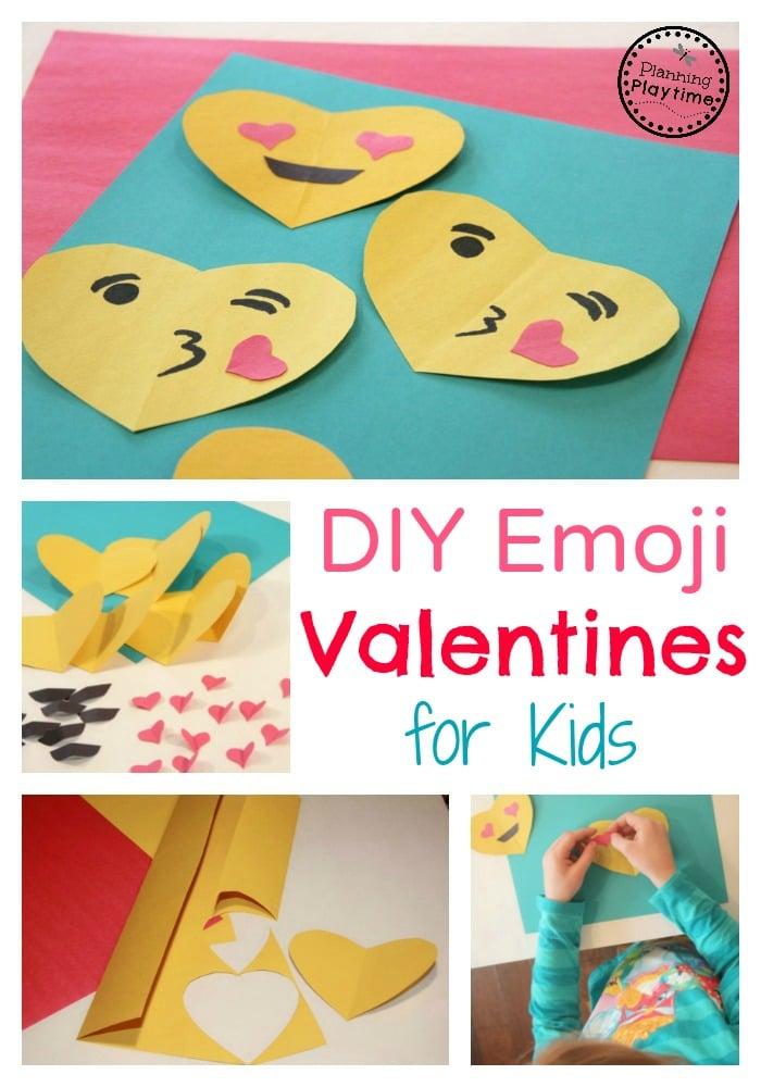 DIY Emoji Valentines for kids
